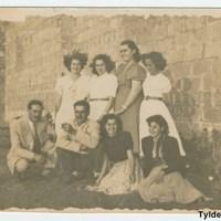 María Luisa Rodríguez Navarro, Lalita Demetrio Peñate, Angelita Viera, Kika Bordón, N/I, Pepe Rodríguez, Lola Benítez Peñate, N/I